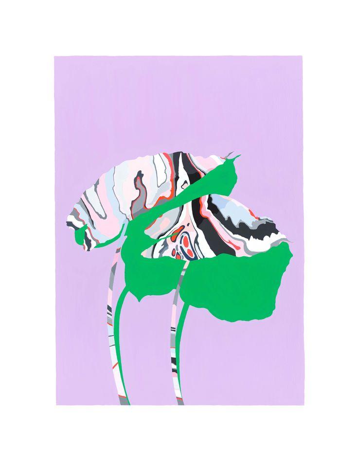 Purple Colocasia - Laura Walker | www.laurawalker.co.nz