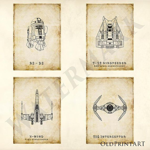 The 25 best blueprint drawing ideas on pinterest science 10 high res custom star wars antique patent prints technical drawing engineering drawing blueprint deco sci fi vintage star wars malvernweather Choice Image