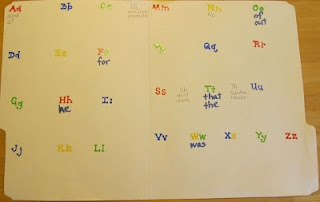 """personal word wall (front cover has student's name and title """"____'s Word Wall"""")"""