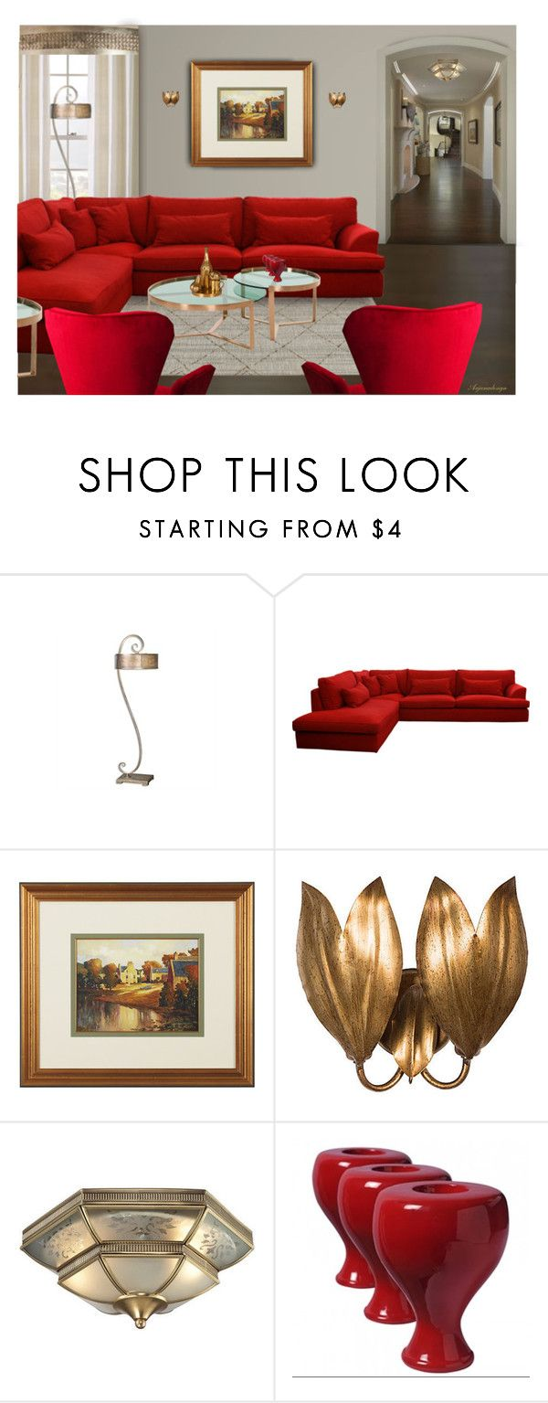 """LARGE HOME"" by arjanadesign ❤ liked on Polyvore featuring interior, interiors, interior design, home, home decor, interior decorating, BEGA, Ethan Allen, Bradburn Gallery and ELK Lighting"