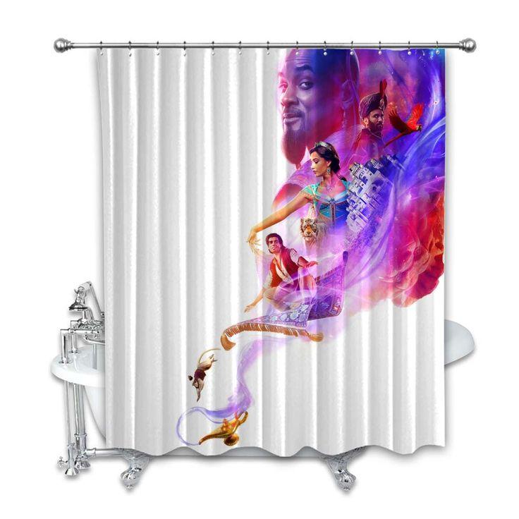 Disney Aladdin Movie Shower Curtain In 2020 Aladdin Movie Disney Aladdin Aladdin Tattoo
