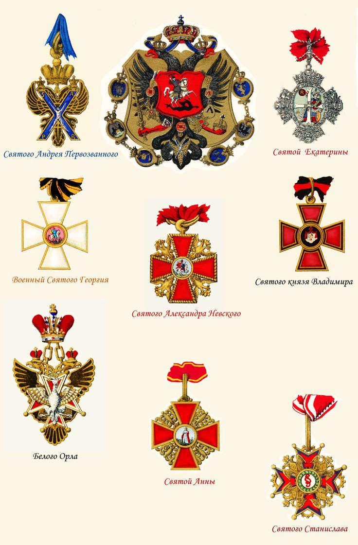 Badges to Orders of Russian Empire