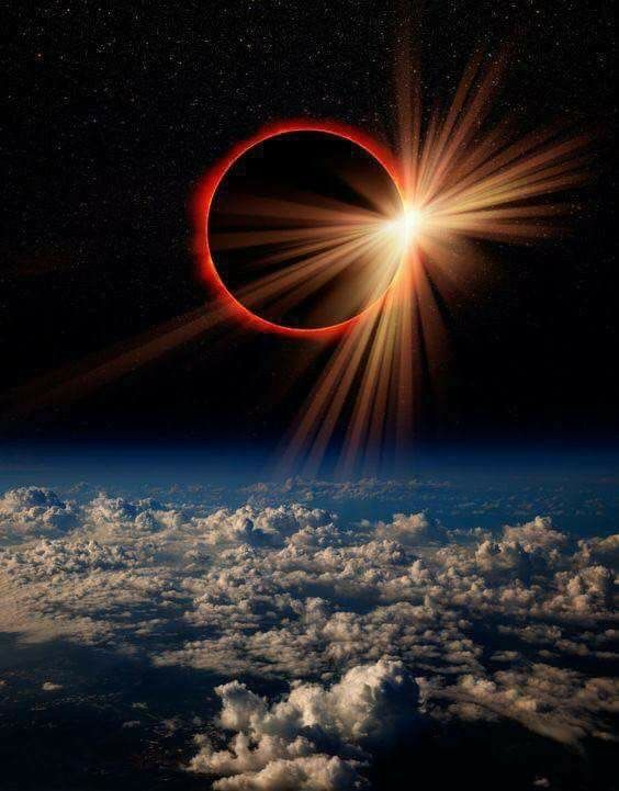 NASA Space Station images of 8/21/17 Total Solar Eclipse