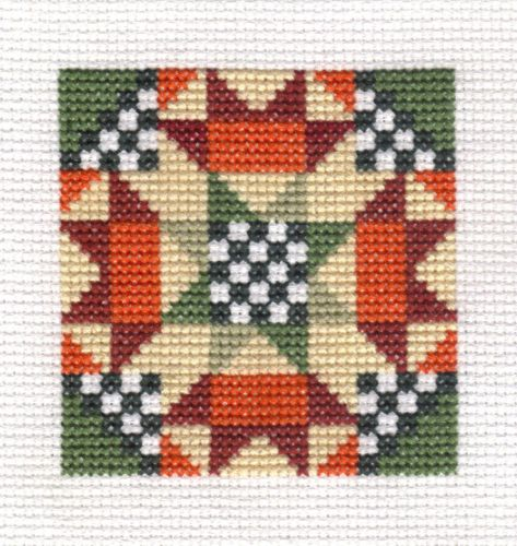 Completed Cross Stitch Another Quilt Block | eBay....for Cynthia.