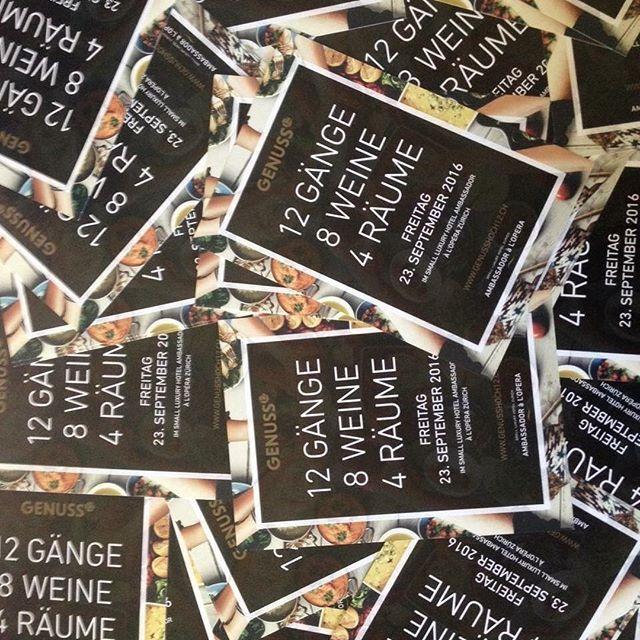 """. Ist er nicht toll geworden, unser Flyer für den Anlass """"Genusshoch12"""" unseres Kunden, dem Small Luxury Hotel Ambassador à l'Opéra? Am 23. September wird das Utoschloss zum lukullischen Place to be in Zürich. www.genusshoch12.ch. .  #Contcept #StoryTelling #hotelambassador. . ."""