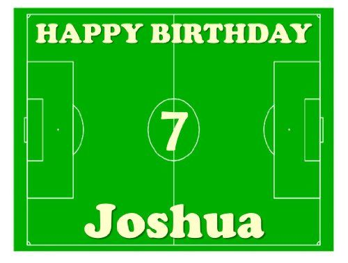 "Football Pitch Cake Topper by Deb's Kitchen Cakes - Personalised Edible Icing 8"" x 10"" (Send us your name and age by using the Gift Message facility on checkout) Debs Kitchen Cakes http://www.amazon.co.uk/dp/B00AFX0H00/ref=cm_sw_r_pi_dp_-hzRub0VZFMA5"