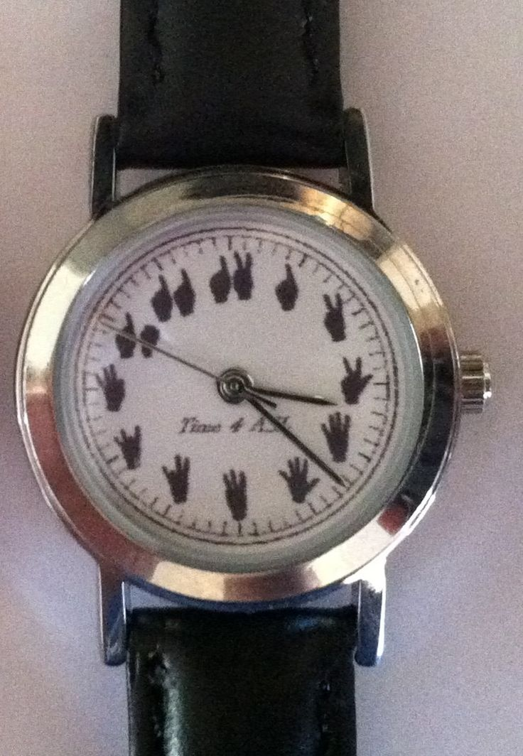 ASL watch a sign language numbered watch by Time4ASL on Etsy, $35.00