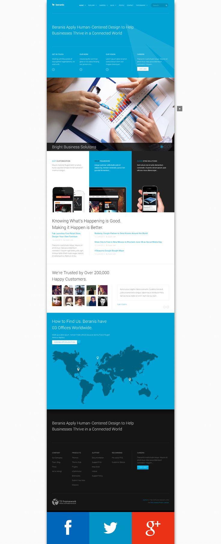 42 best Joomla 3.0 Responsive Templates images on Pinterest ...