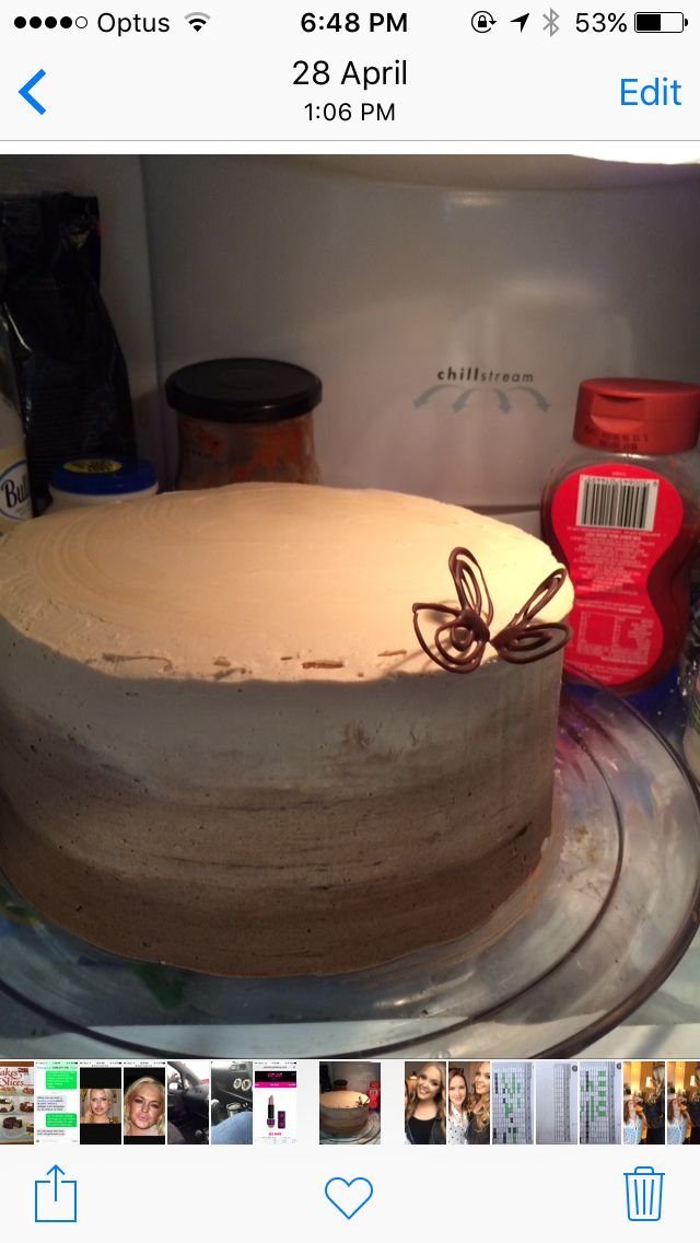 Ombré Kahlua and Chocolate cake.  Just pretend the tomato paste isn't there...