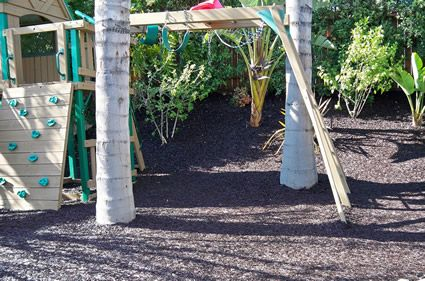 Playground Rubber Mulch - Premium Recycled Rubber Mulch instead of rocks or wood chips