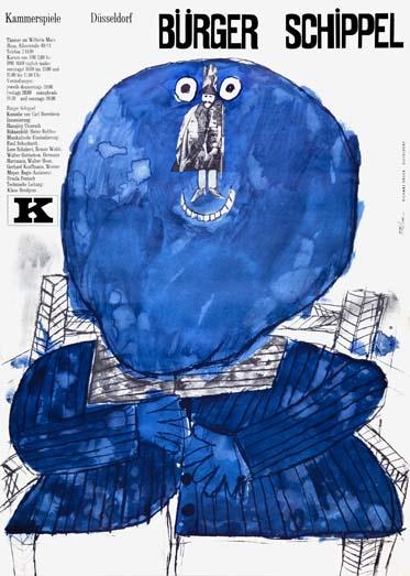 Heinz Edelmann  Theatre poster, 1965