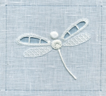 Whitework Embroidery - Dragonfly