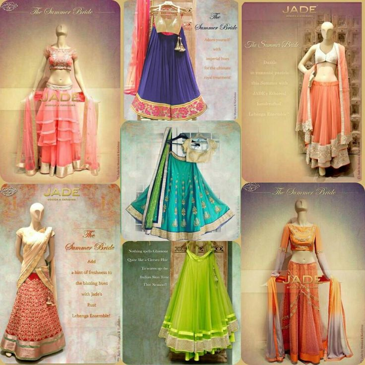 Which Jade lehenga would you pick for your function? I loved the centre teal green piece! #lehenga #indian #choli #Jade #weddings #sangeet #mehndi