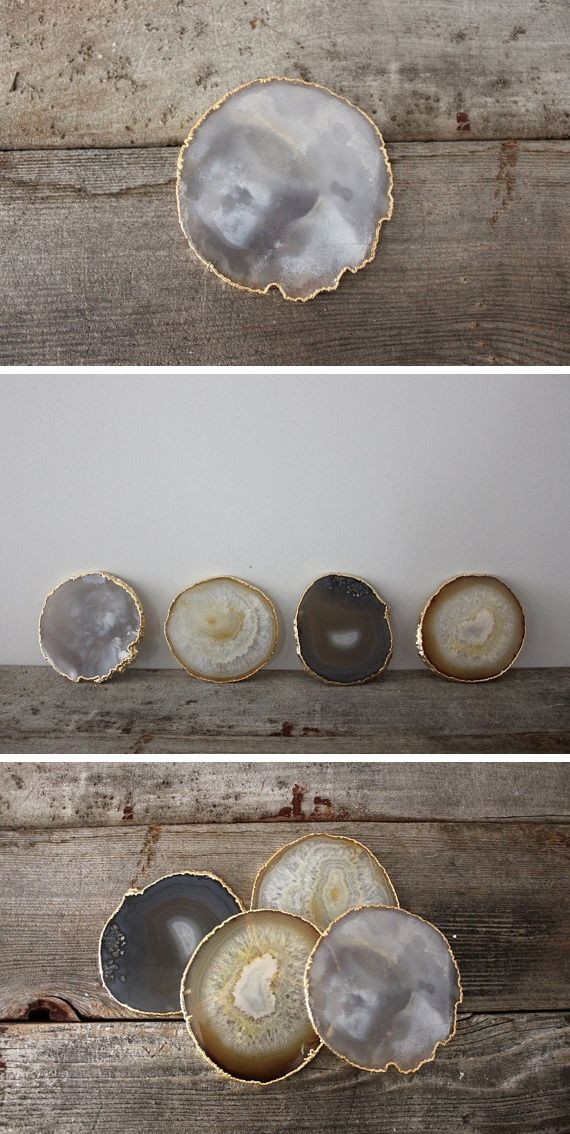 ♥ Gold Agate Coasters(want to frame them as artwork)