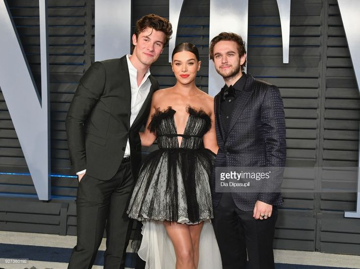 Shawn Mendes, Hailee Steinfeld and Zedd attend the 2018 Vanity Fair Oscar Party hosted by Radhika Jones at Wallis Annenberg Center for the Performing Arts on March 4, 2018 in Beverly Hills, California.