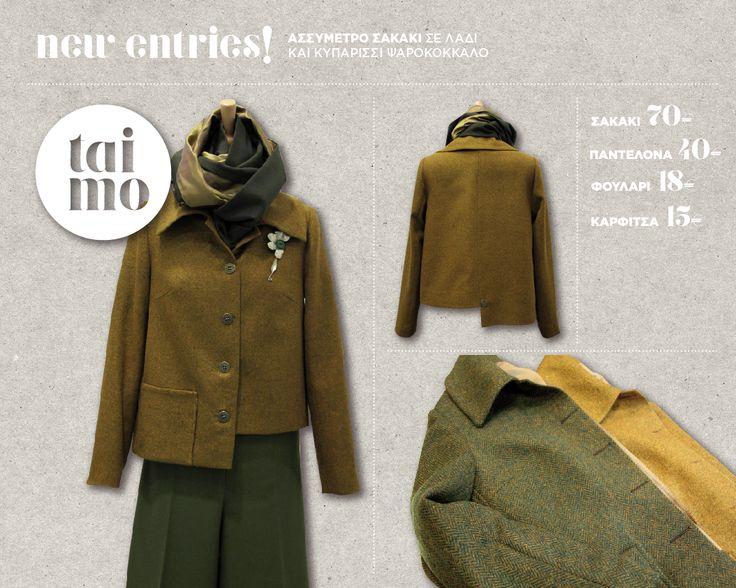 new entries! jacket scarf trouser tai.mo
