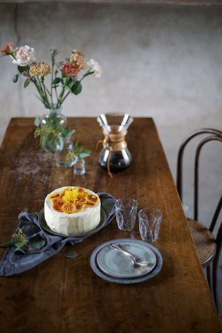 gluten-free-poppyseed zucchini cake with lemon curd