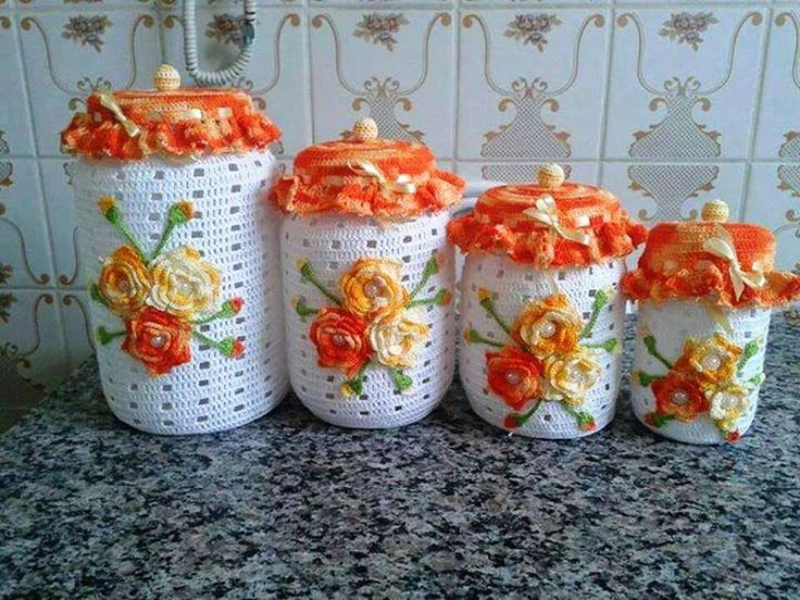 Capas de croche com flores achado nanet