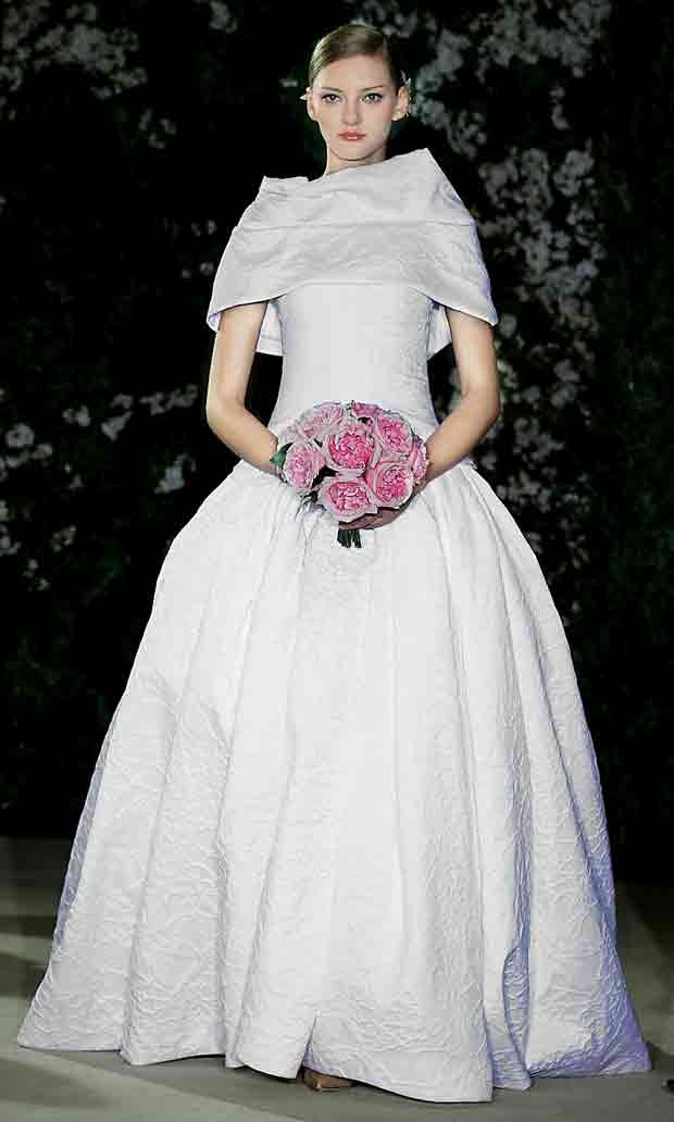 #oscar de la renta #wedding gown