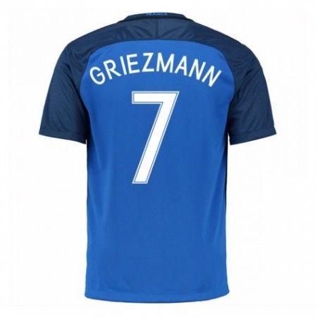 Frankrike 2016 Antoine Griezmann 7 Hjemmedrakt Kortermet.  http://www.fotballpanett.com/frankrike-2016-antoine-griezmann-7-hjemmedrakt-kortermet-1.  #fotballdrakter