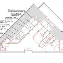 Нью-йоркский дворик: дизайн треугольной кухни 13 кв. м.-8