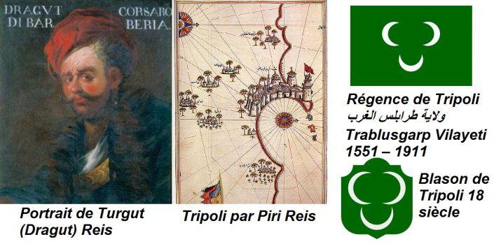Dragut (1514 non loin de Bodrum sur la côte de la mer Égée - 1565 Malte) était un amiral turc de l'Empire ottoman, connu en Turquie sous le nom de Turgut Reis et dans les provinces arabes Darghouth, ce qui signifie dragon. Il était l'un des corsaires les plus célèbres de l'Empire ottoman.
