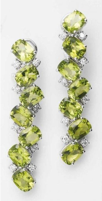 Peridot and Diamond 'Malibu' Earrings by Antonini