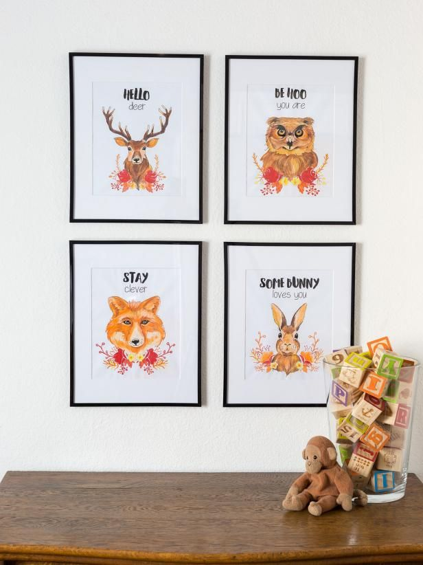 Bring fun and whimsy to your child's room with these printable, color-yourself images >> http://www.diynetwork.com/made-and-remade/make-it/printable-kids-room-artwork?soc=pinterest