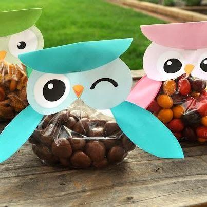 Lembrancinha de doces para Festa de Aniversário Coruja