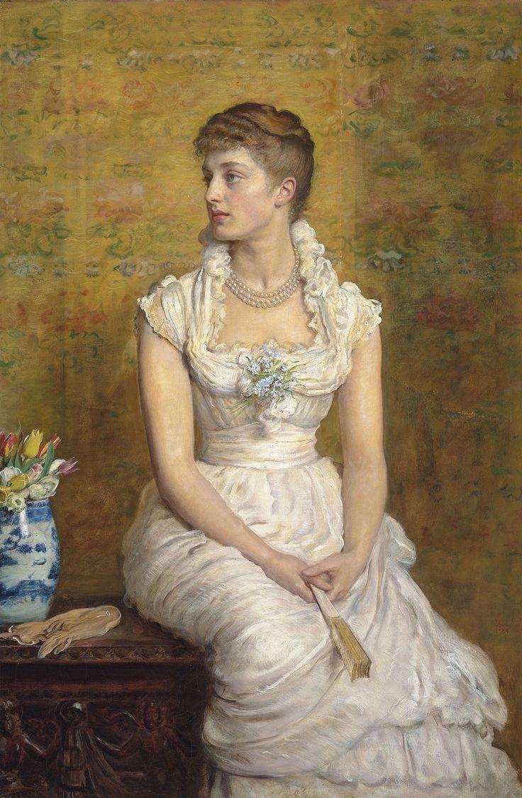 Джон Эверетт Милле (John Everett Millais), 1829-1896. Англия 1884_Портрет леди Кэмпбелл, урожденная Нина Леманн (Portrait of Lady Campbell, nee Nina Lehmann)_