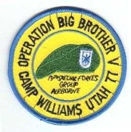 19th Special Forces Group Pocket Patches Operation Big Brother V