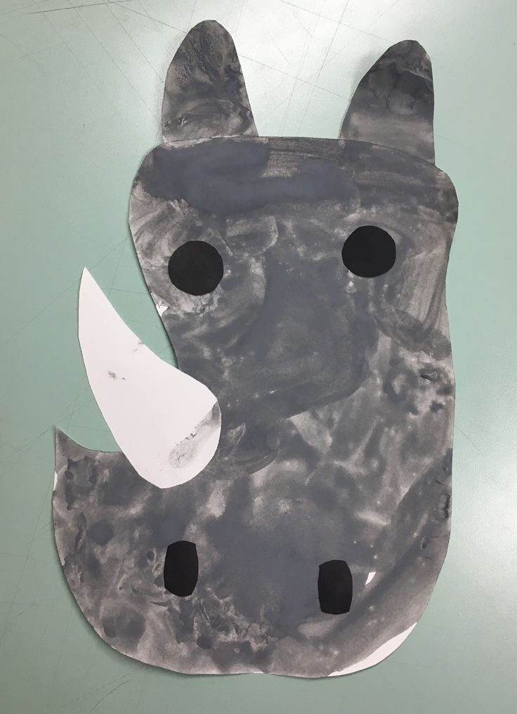 Continuing with our animal theme this week we made some lovely rhinoceroses(?!) We have two versions of these for people who dislike paint! We also used silver crayons! But you could use tiss…