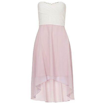 Kleid mit #Vokuhilaschnitt - Atembraubendes #Kleid in #Rosa und Weiß von Vera Mont. Der fein schwingende Rockteil im Vokuhila-Schnitt sorgt für einen gekonnten Stilbruch und verleiht dem Modell damit Coolness. - ab 169,95€