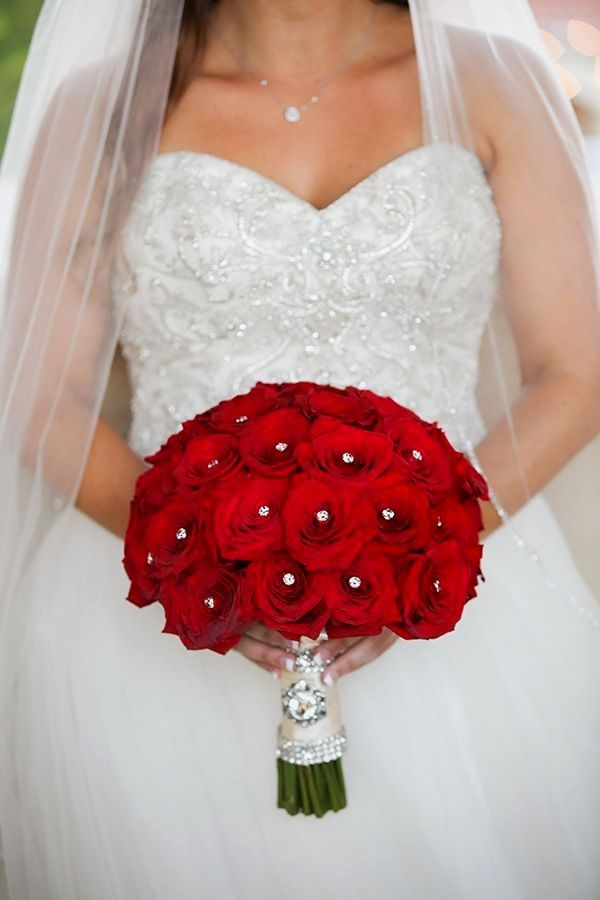 Red Wedding Bouquets Bridalflowers In 2020 Red Rose Wedding