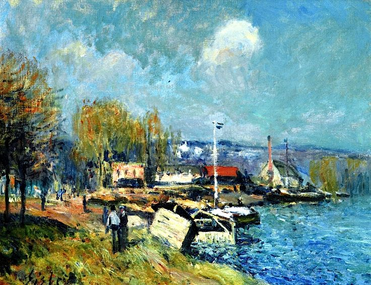 479 best fr impressionist sisley alfred images on - Point p port marly ...