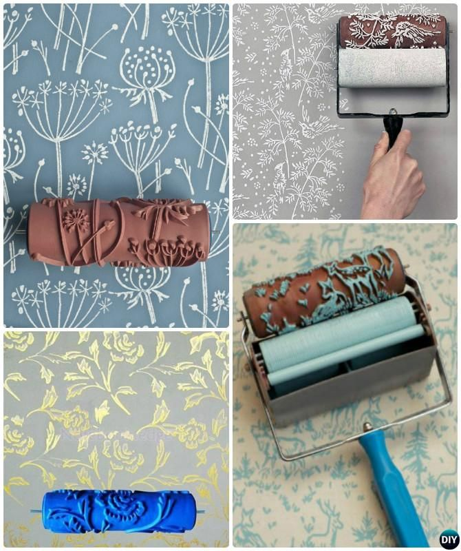 Diy Patterned Roller Wall Painting