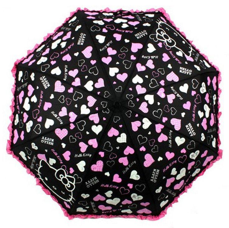 Genuine Hello Kitty Umbrella 3 Fold Automatic Auto Button Woman Lady Girl Kids #HelloKitty #CompactFolding