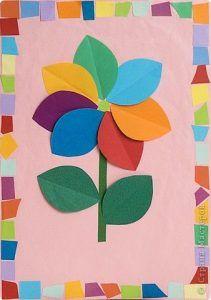 49 Best Flower Craft Idea For Kids Images On Pinterest