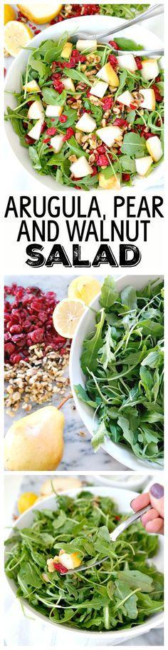 Arugula, Pear & Walnut Salad