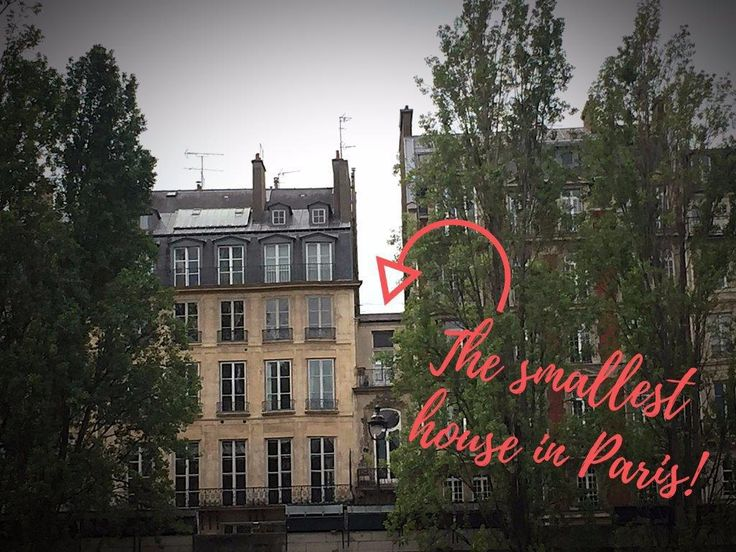 Very small house tucked into larger surrounding houses. Smallest house in Paris! Check out 11 other things that they don't tell you about Paris here! #Paris #Travel #Europe #France