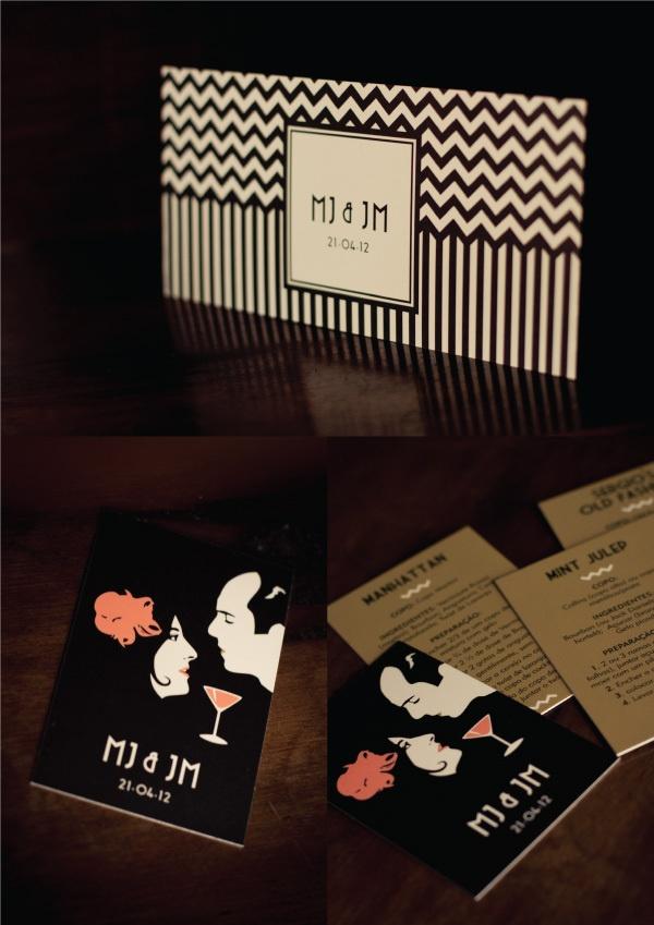 GRAPHIC DESIGN   Wedding invitations by Sofia FiFi Dias for ADORO