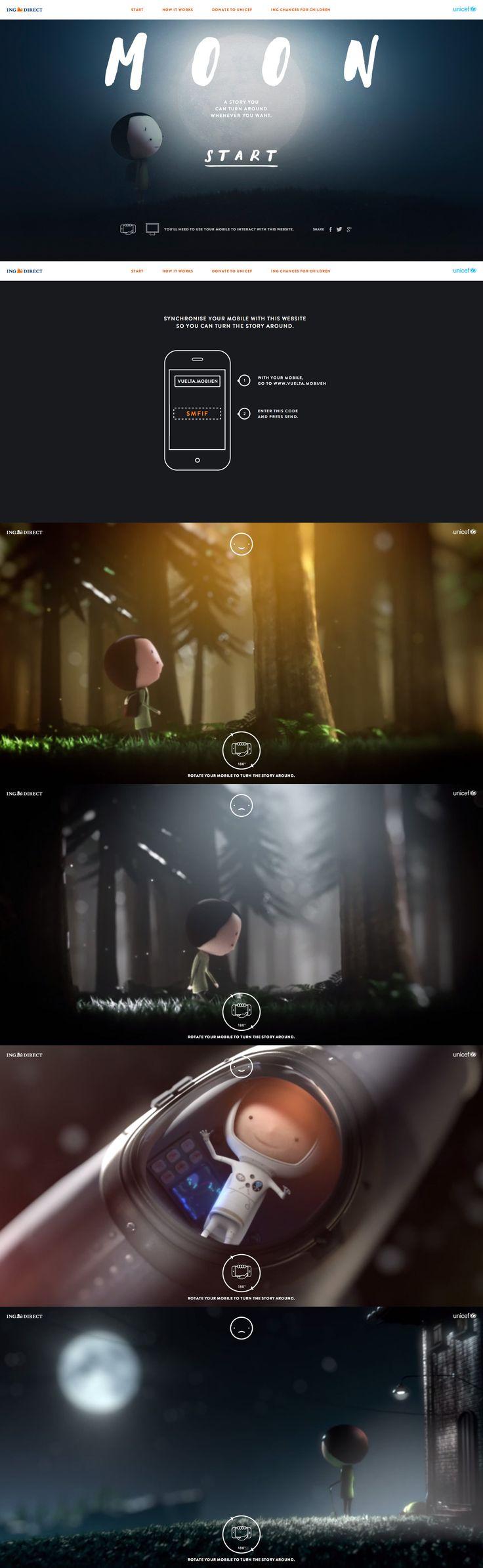 MOON \\ Cool mobile/desktop sync interactive video for UNICEF. http://unahistoriaquedalavuelta.com/en/