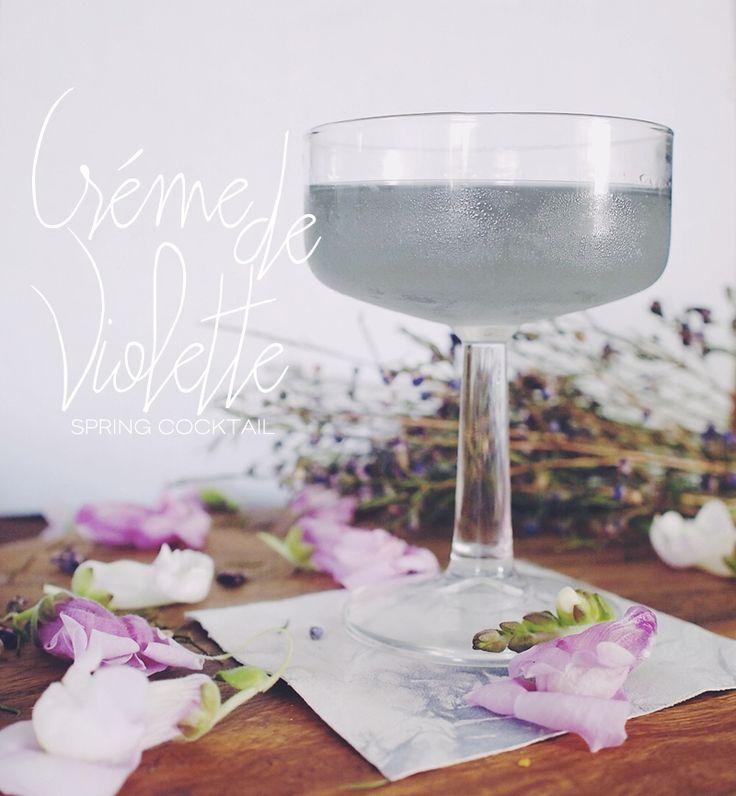 Happy Hour: Creme De Violette Spring Cocktail