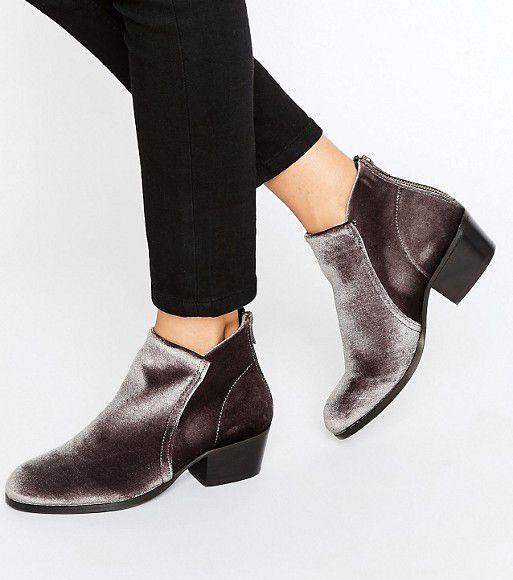 hudson gray velvet ankle boots