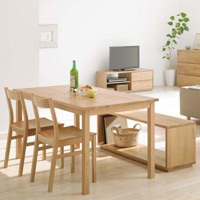 無垢材テーブル・1・オーク材 幅140×奥行80×高さ72cm   無印良品ネットストア