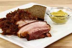 Brunkål med røget flæsk, rugbrød med smør & sennep, billede 4