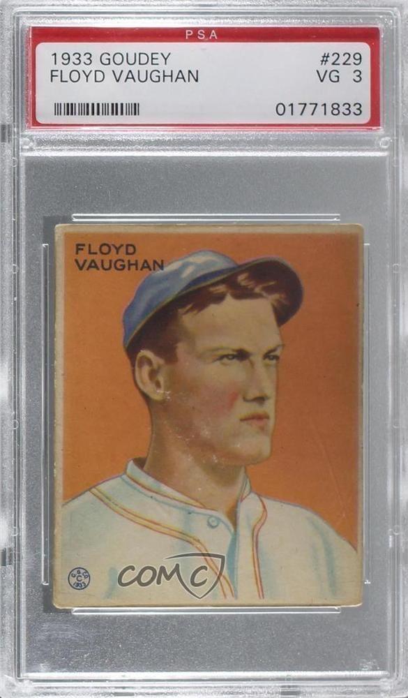 1933 Goudey Big League Chewing Gum R319 229 Floyd Vaughan