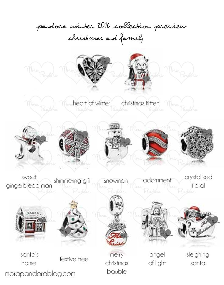 Pandora Christmas 2016 collection