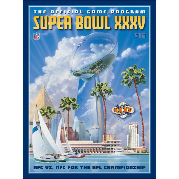 "Fanatics Authentic 2001 Ravens vs. Giants 36"" x 48"" Canvas Super Bowl XXXV Program - $199.99"