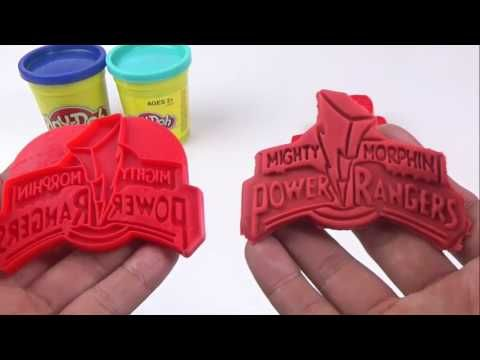 Learn colors play doh power rangers, pink superman, red superman, blue s...